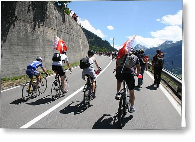 Verbier - Tour De France 2009 Greeting Card