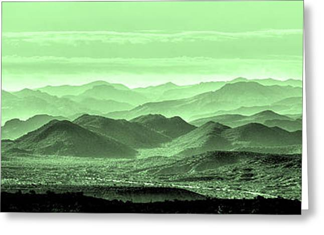 Verdant Hills Of The Tonto Greeting Card by Mike Herdering