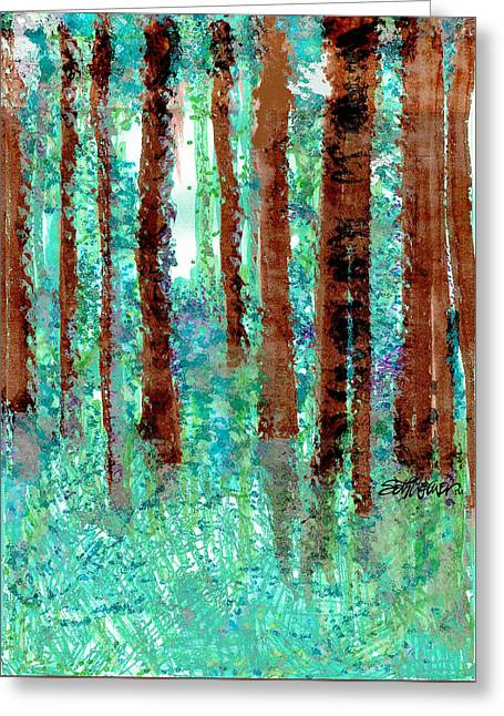 Verdant Vistas Greeting Card by Seth Weaver