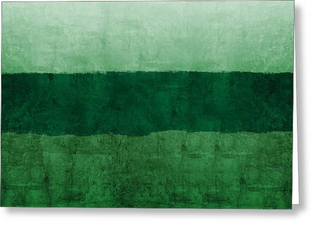 Verde Landscape 1- Art By Linda Woods Greeting Card