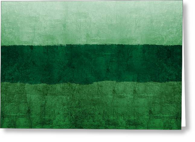 Verde Landscape 1- Art By Linda Woods Greeting Card by Linda Woods