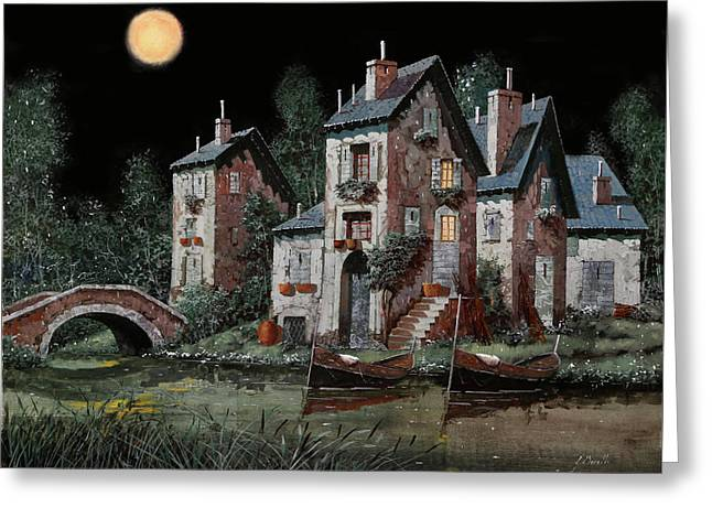 Verde Notturno Greeting Card by Guido Borelli