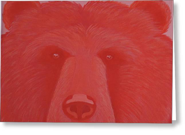 Vermillion Bear Greeting Card