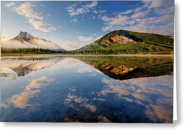 Vermilion Reflections Greeting Card