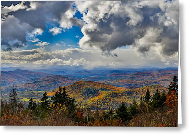 Vermont Autumn From Mt. Ascutney Greeting Card