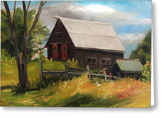 Vermont Barn Greeting Card