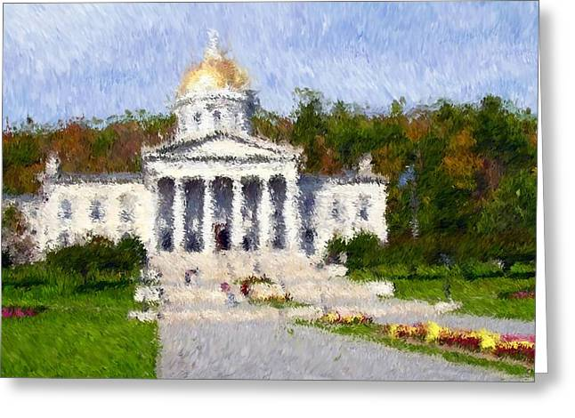 Vermont Capital Greeting Card by Ralph Liebstein