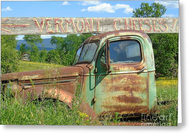 Vermont Cheese Greeting Card by Susan Lafleur