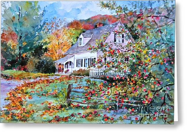 Vermont Country Cape Greeting Card by Sherri Crabtree