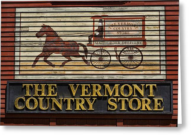 Vermont Country Store Greeting Card by Stephen Stookey