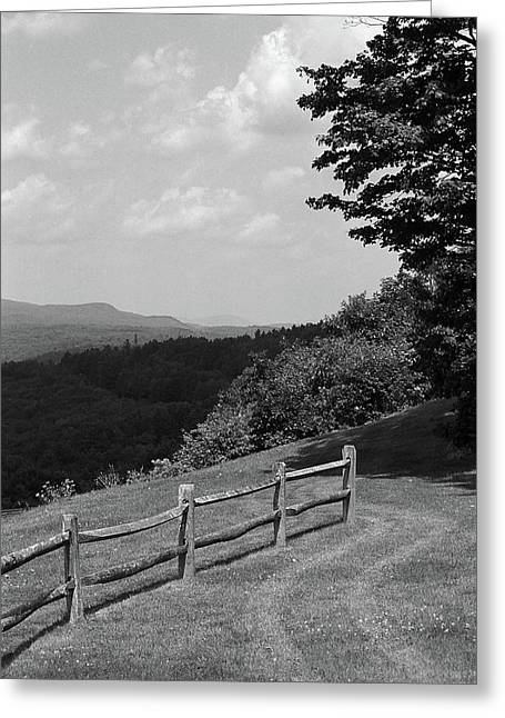 Greeting Card featuring the photograph Vermont Countryside 2006 Bw by Frank Romeo