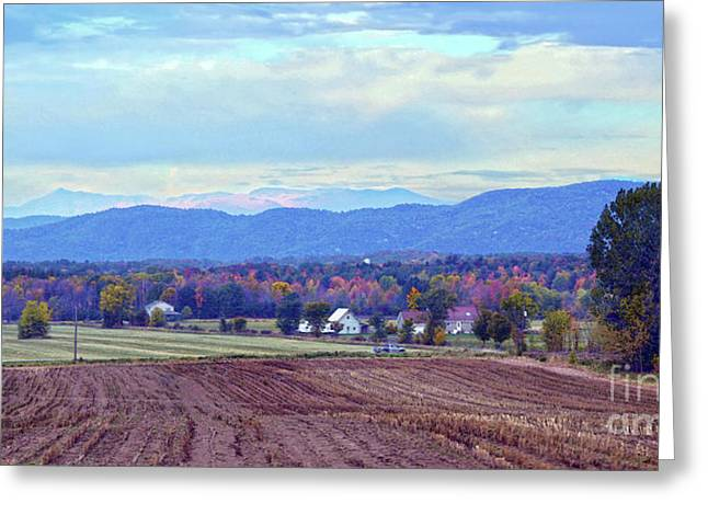Vermont Countryside In Autumn Greeting Card by Catherine Sherman