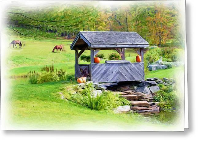 Vermont-countryside Greeting Card by Ralph Liebstein