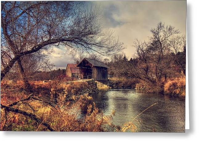 Vermont Covered Bridge - Martin Bridge Greeting Card by Joann Vitali