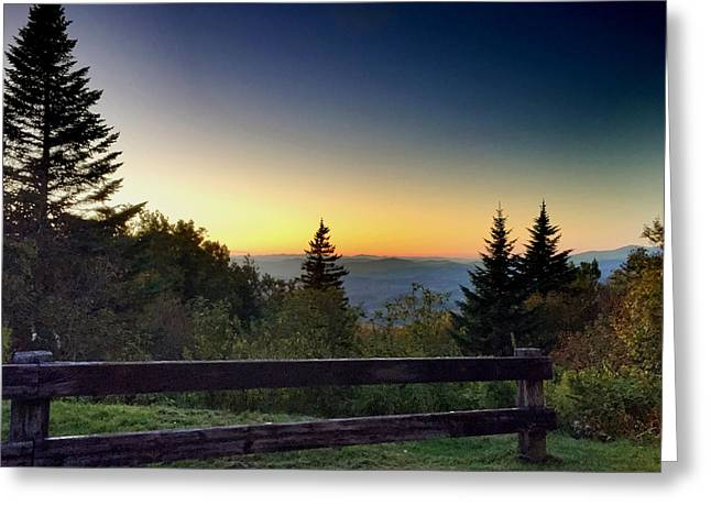 Vermont Evening Greeting Card