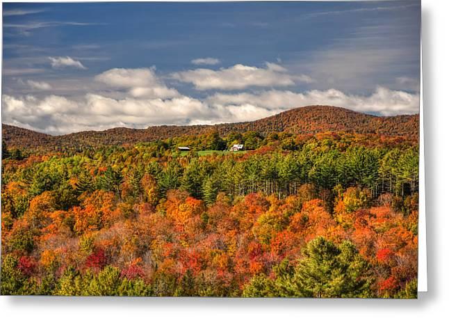 Vermont Fall Foliage  Greeting Card by Joann Vitali