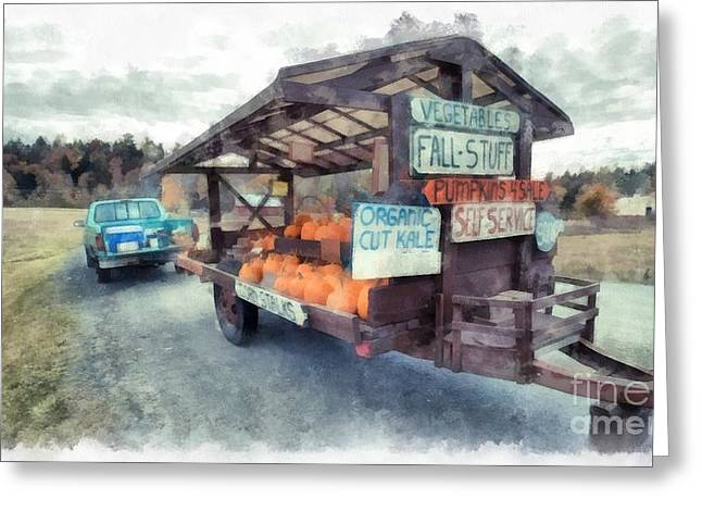 Vermont Farm Stand Greeting Card