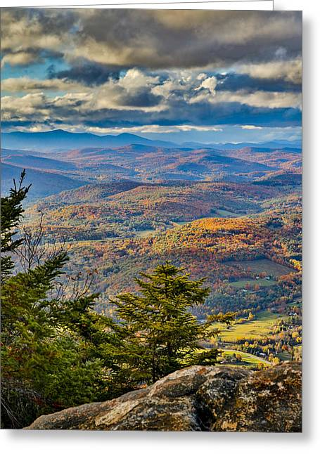 Vermont Foliage From Mt. Ascutney Greeting Card