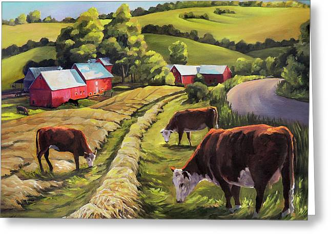Vermont Going For The Green On Jenne Farm Greeting Card