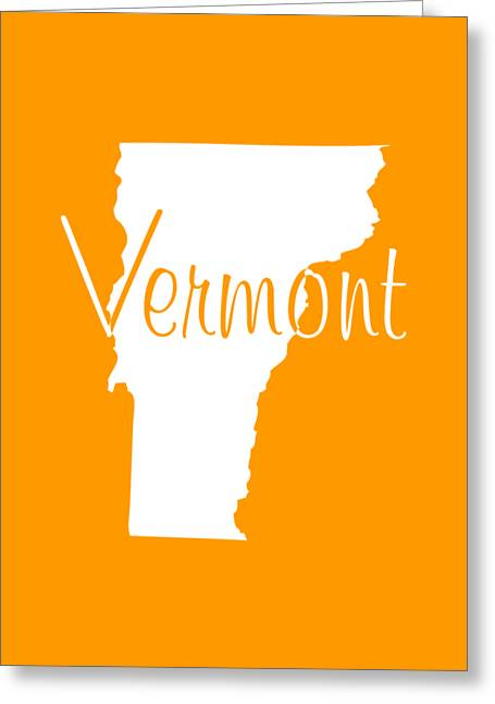Vermont In White Greeting Card by Custom Home Fashions