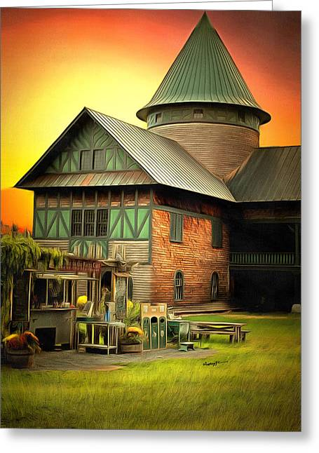 Vermont Landmark Greeting Card by Anthony Caruso