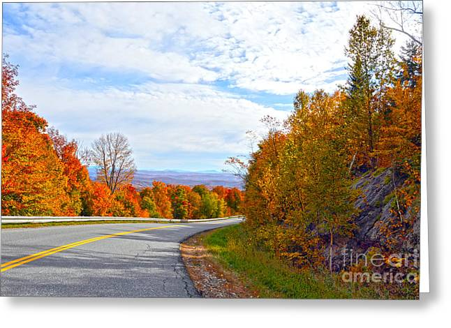 Vermont Mountain Road Greeting Card by Catherine Sherman