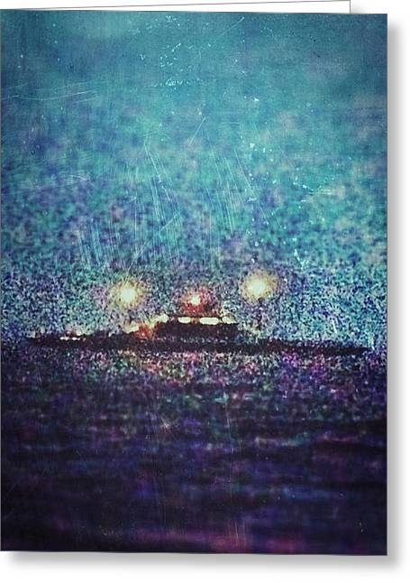Vermont Ny Champlain Ferry Greeting Card