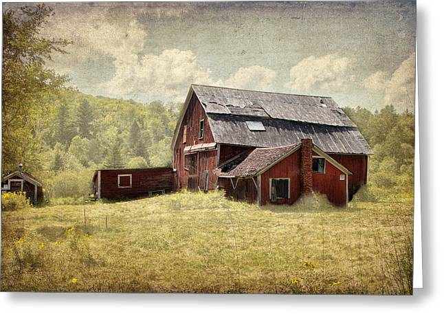 Vermont Red Barn  Greeting Card