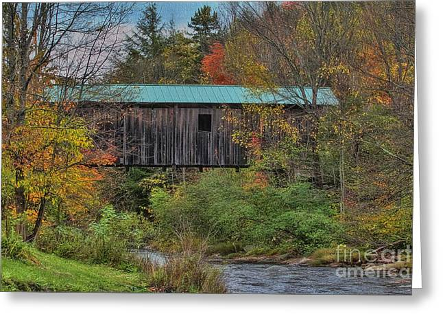 Vermont Rural Autumn Beauty Greeting Card by Deborah Benoit