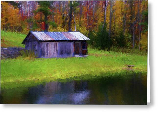 Vermont Shed 1 Greeting Card
