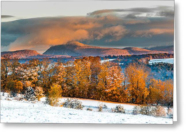 Vermont Snowliage Scene Greeting Card