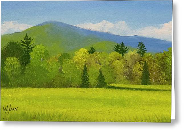 Greeting Card featuring the painting Vermont Spring by Frank Wilson
