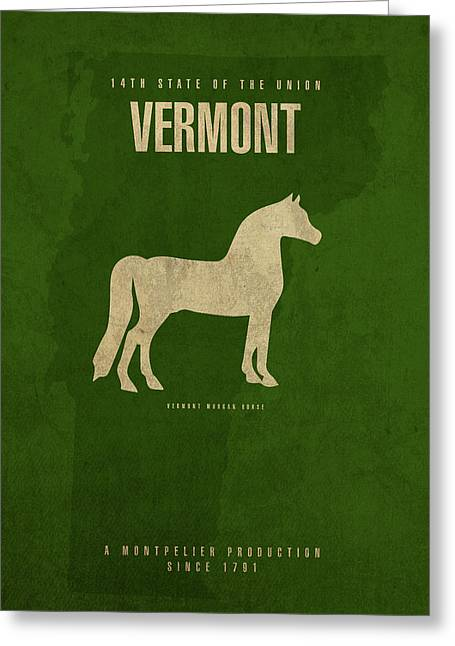 Vermont State Facts Minimalist Movie Poster Art Greeting Card