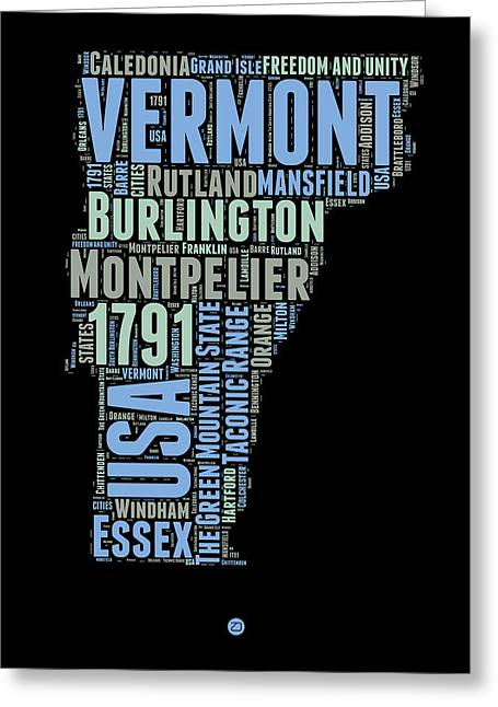 Vermont Word Cloud 1 Greeting Card