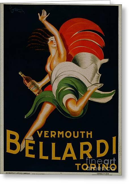 Vermouth Bellardi Torino Vintage Poster Greeting Card