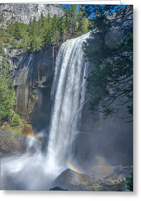 Greeting Card featuring the photograph Vernal Fall Yosemite National Park by Scott McGuire
