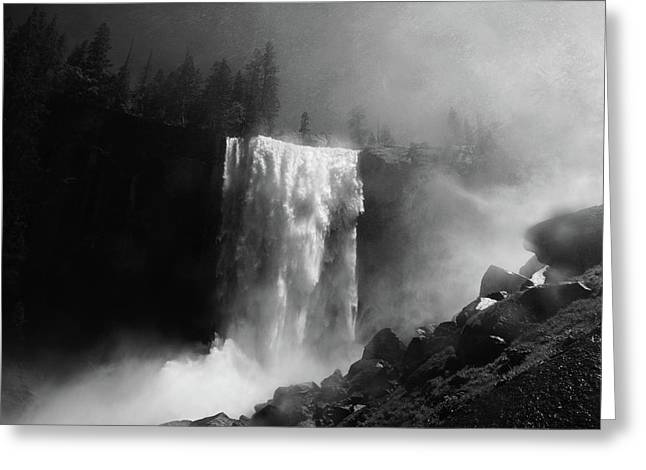 Vernal Fall And Mist Trail Greeting Card