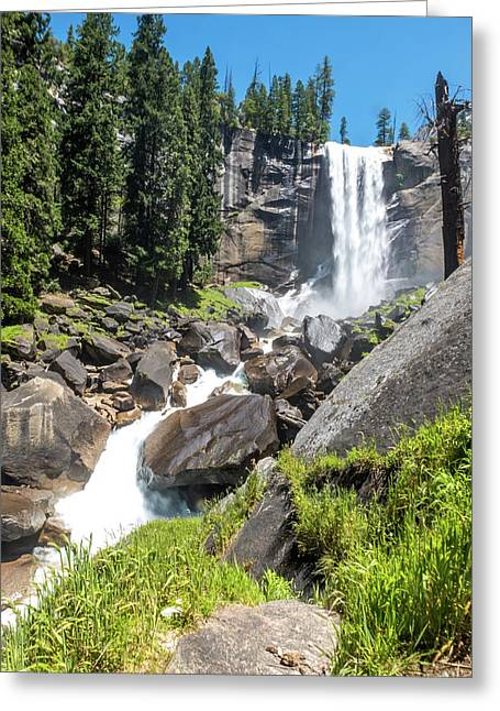 Greeting Card featuring the photograph Vernal Falls- by JD Mims