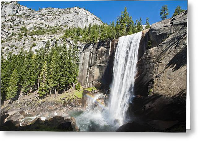 Amazing Greeting Cards - Vernal Falls with Rainbow Greeting Card by Bill Brennan