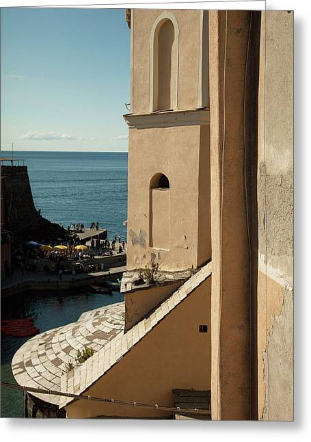 Vernazza 1 Greeting Card by Art Ferrier
