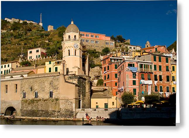 Vernazza Greeting Card by Carl Jackson