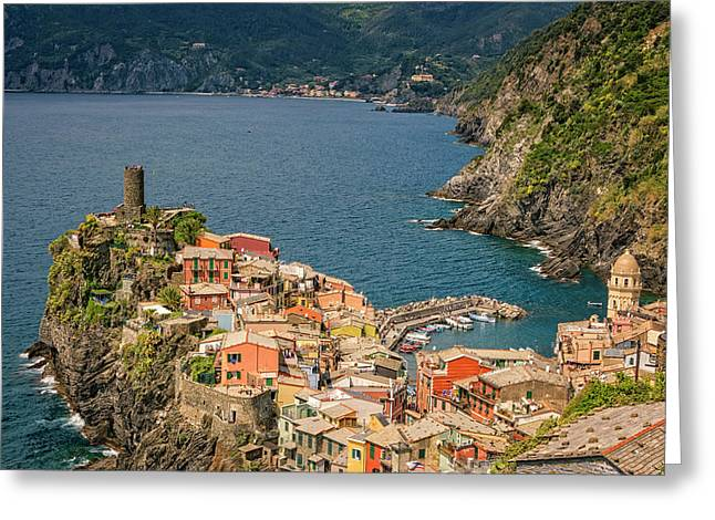 Vernazza Cinque Terre Italy Greeting Card by Joan Carroll