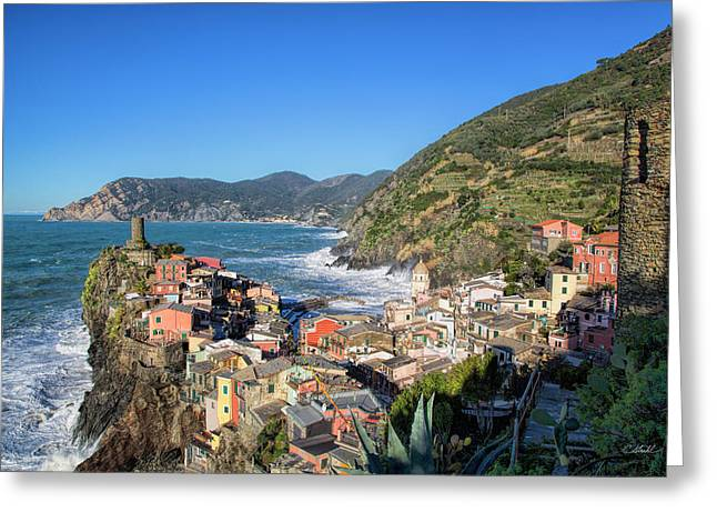 Vernazza In Cinque Terre Greeting Card