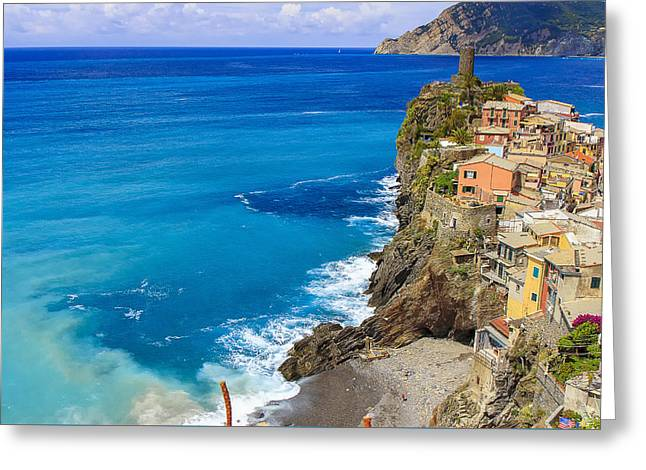 Vernazza Greeting Card by Rick Starbuck