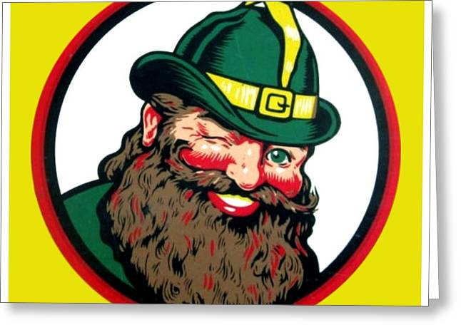 Vernors Ginger Ale - The Vernors Gnome Greeting Card