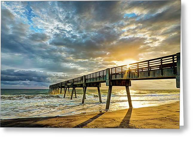 Vero Beach Pier Summertime Greeting Card