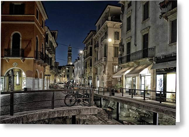 Verona After Midnight Greeting Card