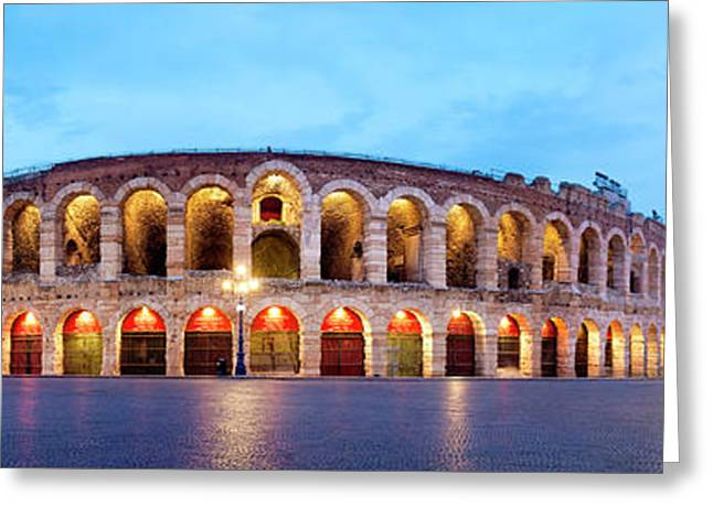 Greeting Card featuring the photograph Verona Arena by Fabrizio Troiani
