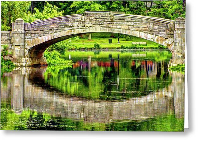 Verona Bridge In Spring Series Greeting Card by Geraldine Scull