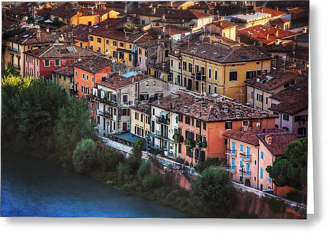 Verona City Of Romance Greeting Card by Carol Japp